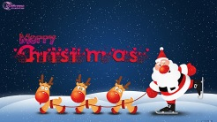 Merry-Christmas-Wishes-with-santa-and-deers-cute-cartoon-for-kids-santa-claus-hd-wallpaper