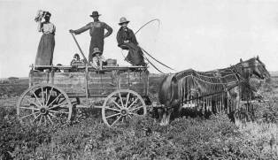 A Kansas Water Wagon in The Year of 1900