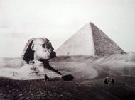 Great Pyramid and Sphinx, Egypt, 1873
