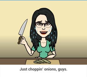 just choppin onions