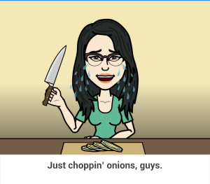 just choppin onions