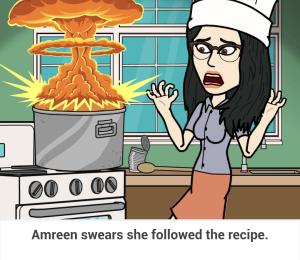 she followed the recipe