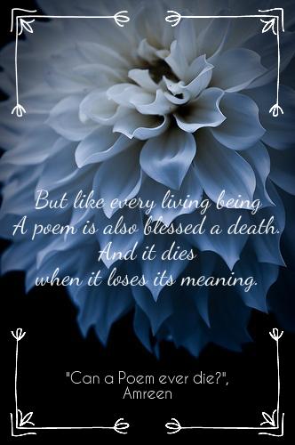 can a poem ever die