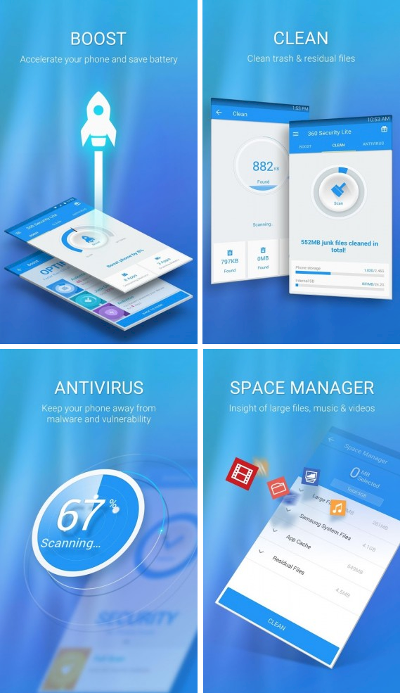 Features of 360 Security Lite. features