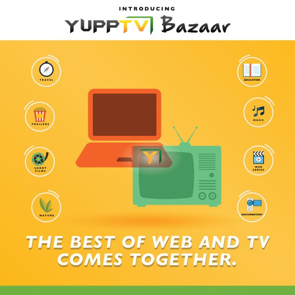 yupp tv bazaar launch