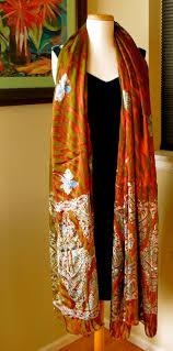 artistic print scarf