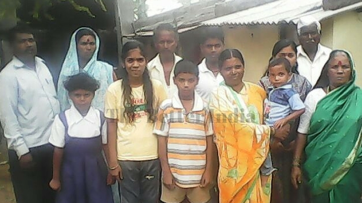 ashok farmer with his family