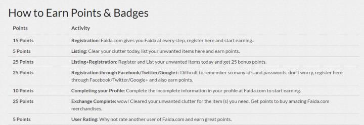 earn points on faida
