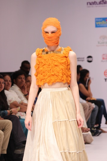 Model showcasing the collection of designer Megha Jain