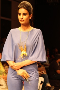Model showing the jewellery designed by Jewellery Designer Akassh K Aggarwal 1