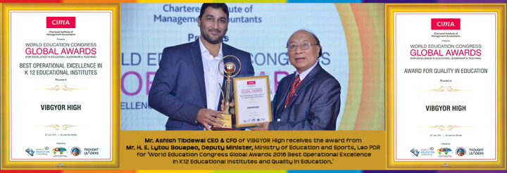 Double honour for VIBGYOR High Group of Schools at World Education Congress 2016