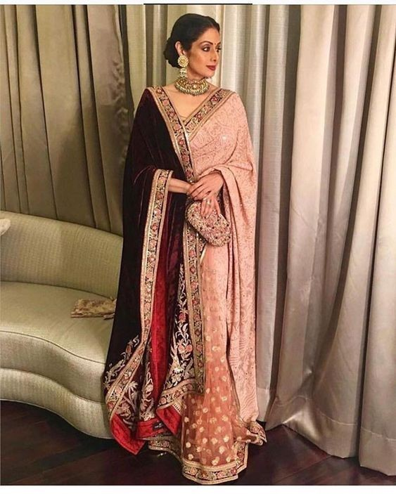 dupatta-on-saree
